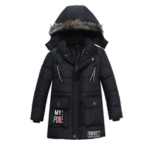 700g Fashion Children'S Winter Thick Down Jacket Boys Jacket Patchwork Duck Down Jacket Wear Coat casual Hooded down jacke 7 8 9
