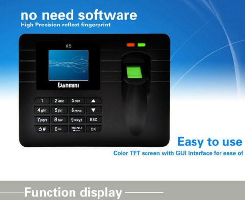 A5 Direct Factory 2.4 TFT Colorful Screen, Easy To Learn Adopt Energy-saving Fingerprint Sensor and Power Management Function<br>