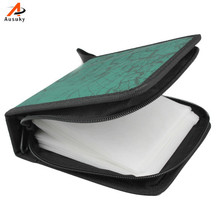 A Ausuky 40CD DVD Disc Storage Bag Holder Carry Case Organizer Sleeve Wallet Cover -39(China)