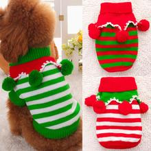 Christmas Dog sweater clothes winter dog clothes Small Dog Clothes Costume Xmas Christmas Jumper Sweater XS/S/M/L