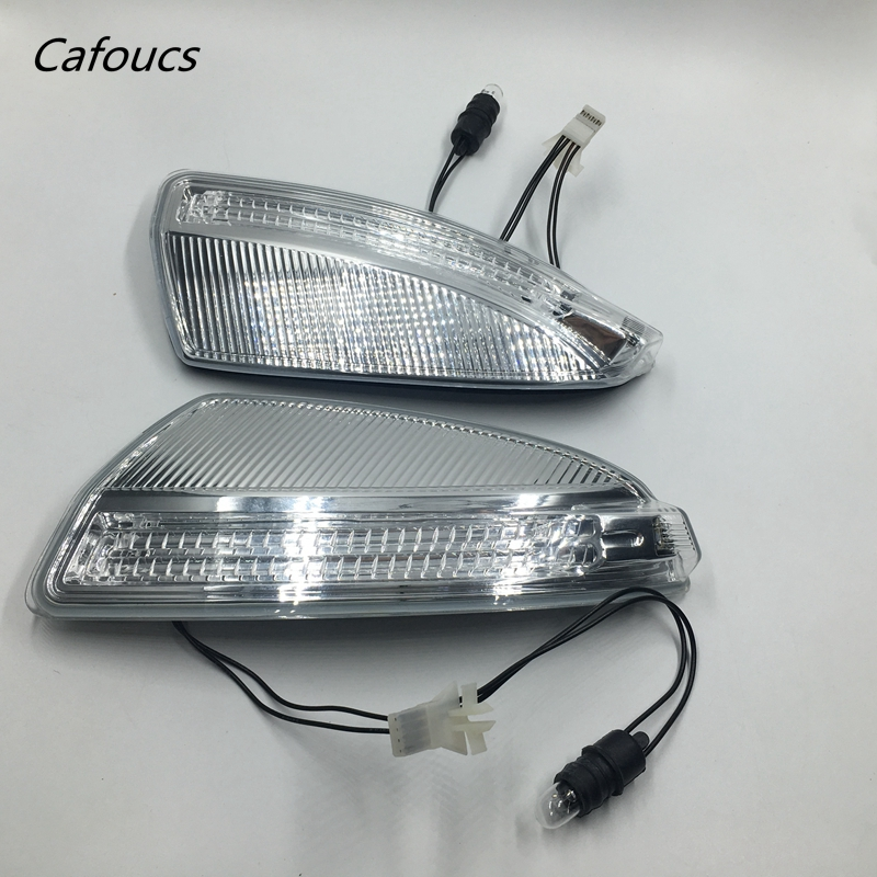 Cafoucs Wing Mirror Corner Light Turn Signal Lamp with LED Bulb for Mercedes W204 C250 C300 C350 2008-2013 2048200821 2048200721<br>