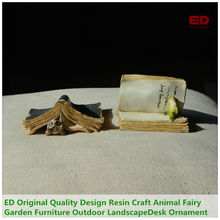 ED Original Quality Design Resin Craft Animal Fairy Garden Furniture Outdoor Landscape Decoration Office Desk Ornament(China)
