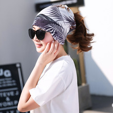 Miya Mona Women Casual Multi Functional Beanie Scarf Printed Pattern Hat Girls Autumn Neck Tube Fashion Accessories(China)