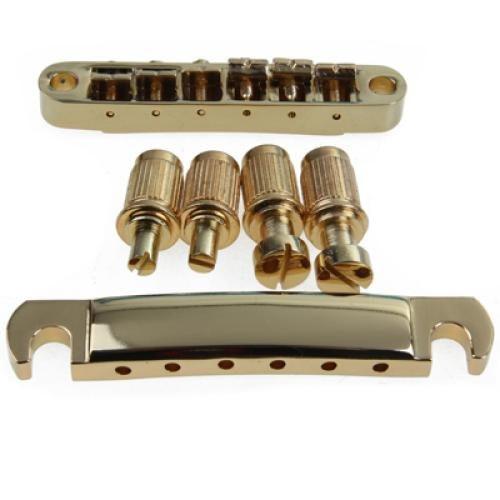 5pcs Gold Abr-1 Bridge Tune-o-matic E Tailpiece for Guitar<br>