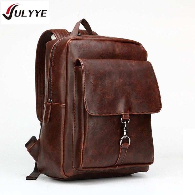 YULYYE British Style Large Capacity Backpacks High Quality Fashion Multifunction School Backpack Mens Travel Laptop Leather Bag<br>