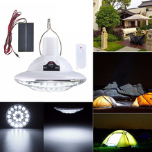 22 LED Solar Light Outdoor Garden Solar Powered Lamp Yard Hiking Tent Camping Hanging Lamp Remote Control Pure White