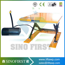 SINOFIRST U shape low-type scissor electric lift table use with pallet