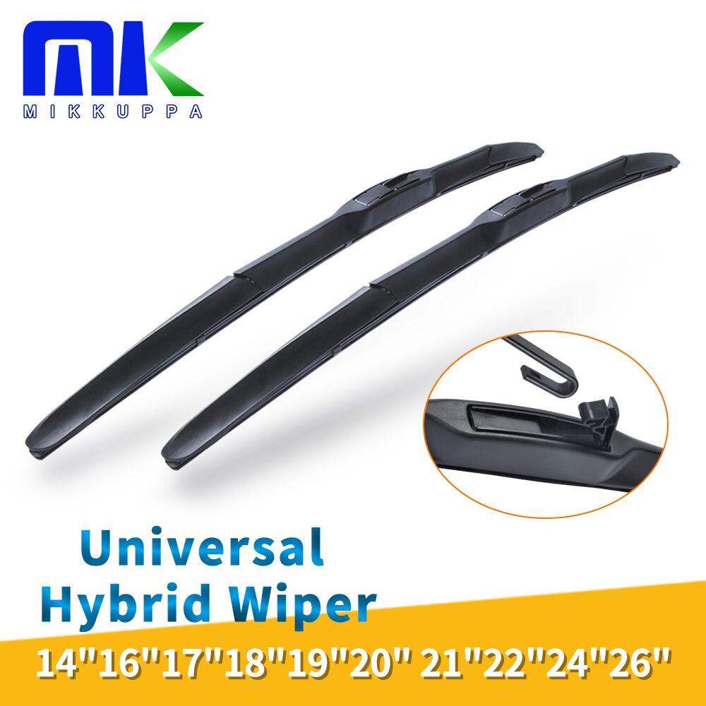 Universal U-Type Car Wiper Blade 14''16''17''18''19''20''21''22''24''26'' U Hook Windscreen Windshield Silicone Rubber Hybrid Auto Wipers