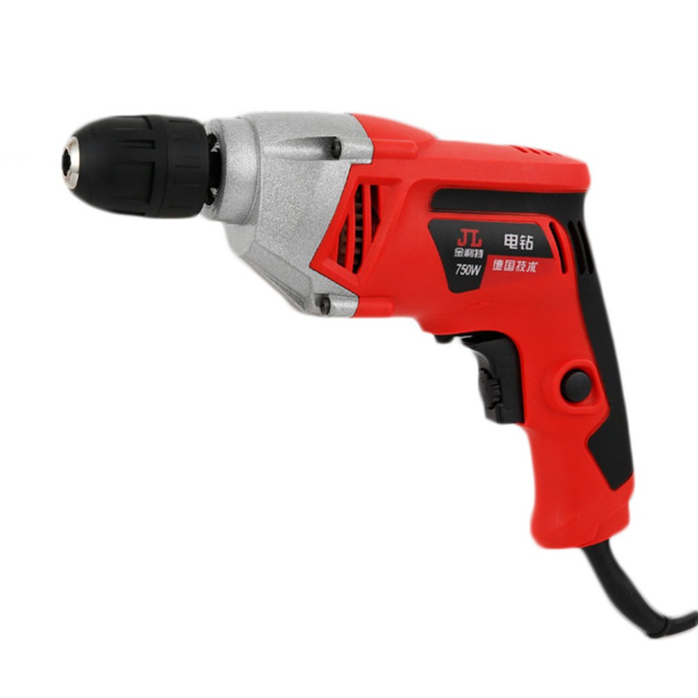 Quality Handheld Electric Hammer Drill 10MM 220V 50Hz 750W Aluminum Durable Drill High Power Torque 2000RPM Adjustable Speed<br>