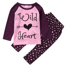 Enfant Clothing 2pcs Outfits Set Baby Girl Kid Top Long Sleeve Pants Clothes Garments Set Autumn Winter Toddler Shirt Girls 1-6Y(China)