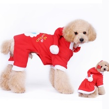 Pet Dog Christmas Couple Jacket Coat Winter Warm Sweater Hoodie Pant Clothes Dress