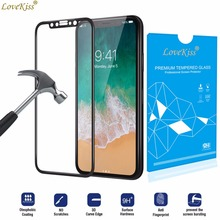 Buy 3D Full Cover Screen Protector Tempered Glass Film iPhone 8 Plus X 8Plus Screen Protector Protective Toughened Film Coverage for $2.06 in AliExpress store