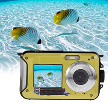 US Plug New Digital Camera Duble Screen HD 24MP 1080P DV 16X Zoom Waterproof Digital Video Cam(China)