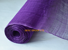 NEW High quality Purple Width 91CM stiffened Sinamay Millinery Fabric for tea kentucky derby hat wedding party races(China)