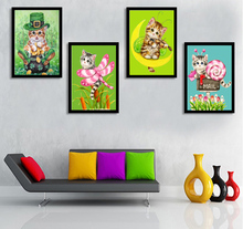 Diamond Embroidery Cute cat Diamond Painting Animal Diamond Mosaic Cross Stitch Needlework Crafts Best Full arts crafts & sewing