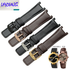 UYOUNG Leather watch with a substitute GC YA133205 YA133206 series watch with 20*12MM Black Brown(China)
