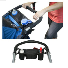 Universal Baby Stroller Bag Organizer Baby Carriage Prams Baby Cup Bottle Holder Buggy Stroller Accessory Bag For Wheelchairs