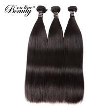Buy Beauty Line 3 Bundles Brazilian Straight Hair Bundles 100% Human Hair Bundles Natural Color 8-26 Inch Non-Remy Hair Weave for $33.58 in AliExpress store
