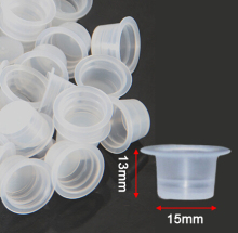 2000101 /1000pcs 15mm Large Size Clear White Tattoo Ink Cups For Permanent Makeup Caps Supply