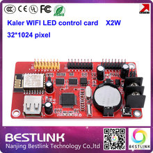 led wifi controller card supply kaler xu2w x2w led control card 32*512 pixel with usb port for p10 led moving sign programble
