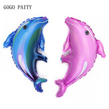 GOGO PAITY  Cartoon dolphin series aluminum balloon balloon wedding decoration baby birthday arrangement stage layout