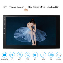 Double 2 Din Android 5.1 Car Radio Player 7'' Universal WIFI GPS Navigation Car Video Stereo audio MP5 Player HD Touch Screen(China)