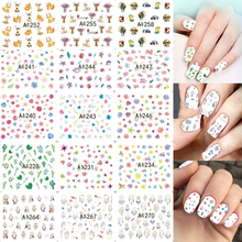 2017 NEW 48Sheets Mixed Decals Flower/Cartoon Nail Art Water Transfer Stickers Beauty Manicure Decoration DIY Tools LAA1225-1272(China)