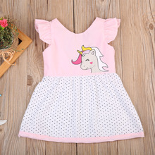 Cute Newborn Infant  Kid Baby Girls Dress Unicorn  Princess Party Pageant Holiday Dresses