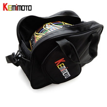 KEMiMOTO Motorcycle Universal Multifunction Motorbike Scooter Helmet Bag Storage Carry Bag Deluxe Soft Waterproof Zippere(China)