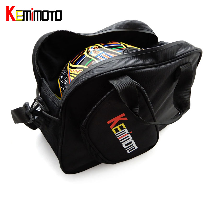 KEMiMOTO Motorcycle Universal Multifunction Motorbike Scooter Helmet Bag Storage Carry Bag Deluxe Soft Waterproof Zippere(China (Mainland))