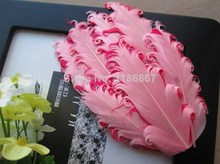 20pcs/lot Wholesale Nagorie Pads Curly Goose Feather Pads For Headband Hair Accessories Clips Fascinator Wedding Bridal pink(China)
