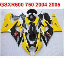 Buy Cool!! Fairing kit Suzuki gsxr600 750 2004 2005 04 05 Yellow Black fairings EMS free s30 for $342.24 in AliExpress store