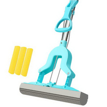 341230/Household flat mop/Suspended design/Built-in nut retractable rod/Bilateral buckle/Strong absorbent sponge head