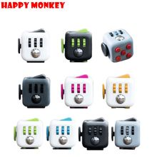 Dropshipping Mini Fidget Cube Toy Desk Finger Toys Squeeze Fun Stress Reliever 3.3cm High Quality Antistress Stress Cube Toys(China)