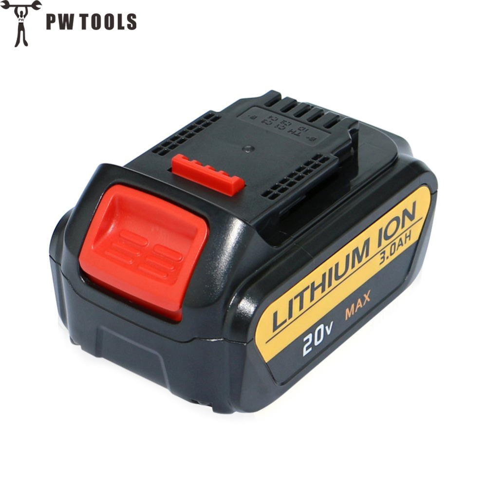 PW TOOL 20V 5.0Ah Rechargerable Lithium Battery Large Capacity Long Life Fast Charge Replace Battery for Power Tool Accessories<br>