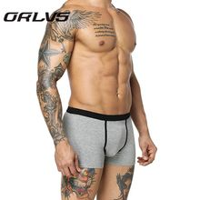 Orlvs Brand Dragon Printed Men Underwear Pants Cueca Sexy Men Boxers Spandex Modal Underpants Boxers Male Pouch Shorts Boxer H2(China)