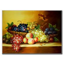 Modern Single Picture Painting Classic Still Life Full Of Fruits On The Table Great Dining Room Decorative Painting(China)