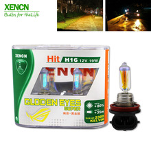 XENCN H16 12V 19W 2300K Golden Eyes Super Yellow Light Car Headlights Bulbs Germany Quality Fog Halogen Lamp Free Shipping 2PCS
