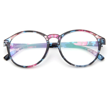 Men and Women Retro Round Eyes Glasses Frame Fashionable Optical Glasses Frame Beautiful Print  Glass Frame