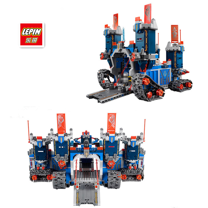 IN STOCK Lepin 14006 1115pcs Nexus Knights Clay Aaron Fox Fortrex Castle Building Block Compatible 70317 Bricks toys<br>