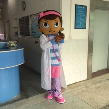 Hot sales 2016 Doc McStuffins clothes McStuffins mascot costume adult clothing Doctor fast shipping dock