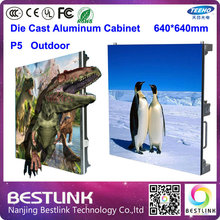 outdoor led display screen p5 outdoor die cast aluminum cabinet 640*640mm 1/8s high brightness waterproof advertising billboard