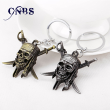 Movie Pirates of the Caribbean Keychain can Drop-shipping Metal Key Rings For Gift Chaveiro Key chain Jewelry for cars YS10896(China)