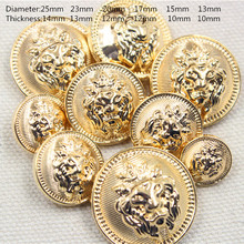 Free shipping, 20PC diameter of 13mm-25mm gold buttons, clothing accessories, shirt, coat buttons, JS255(China)