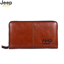 JEEP BULUO Brand Men Clucth Bag Fashion Men Wallet Day Clutch Bag Leather Handbag Card Holder Purse Fashion Male Hand bag 2125