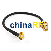 SMA female jack to MMCX female RA pigtail cable assembly RG174 15/20/30cm