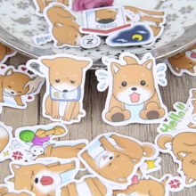 40pcs Self-made Cute Puppy Dog Animal Dogs Scrapbooking Stickers Decorative Sticker DIY Craft Photo Albums Decals Diary Deco(China)