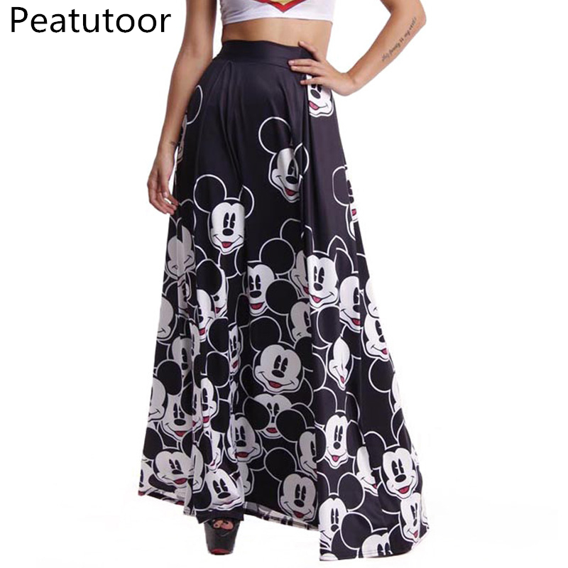 2018-Summer-Skirt-Women-Long-Skirts-Elastic-High-Waist-Pleated-Maxi-Skirts-Beach-Boho-Sexy-Vintage (2)