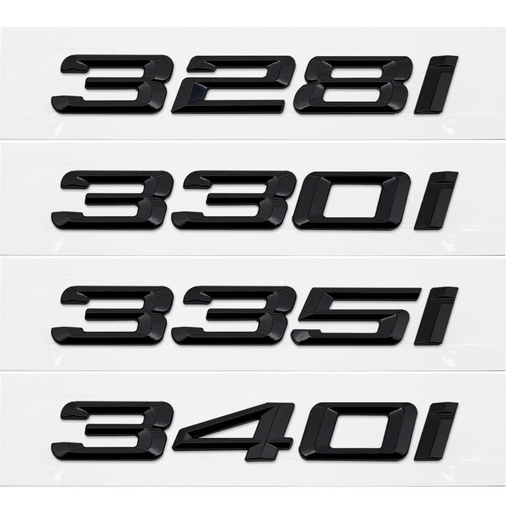 328i Black 320i 325i 328i 330i 335i Symbol Emblem Sticker Badges for Trunk Tailgate Bumper Decoration