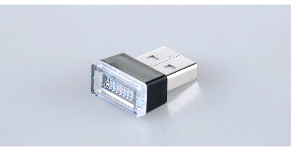 Mini Wireless Car Atmosphere Light LED USB Night Light Cigarette Lighter Decorative Lights Car Styling Truck PC Laptops Kit (10)